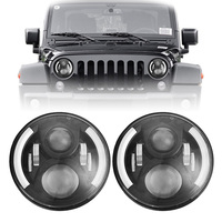 7inch Round 50W Hi/Lo Beam LED Driving Lihgt Headlight Insert With DRL Halo Ring Angle Eyes for Jeep Wrangler JK TJ LJ 1997 2017