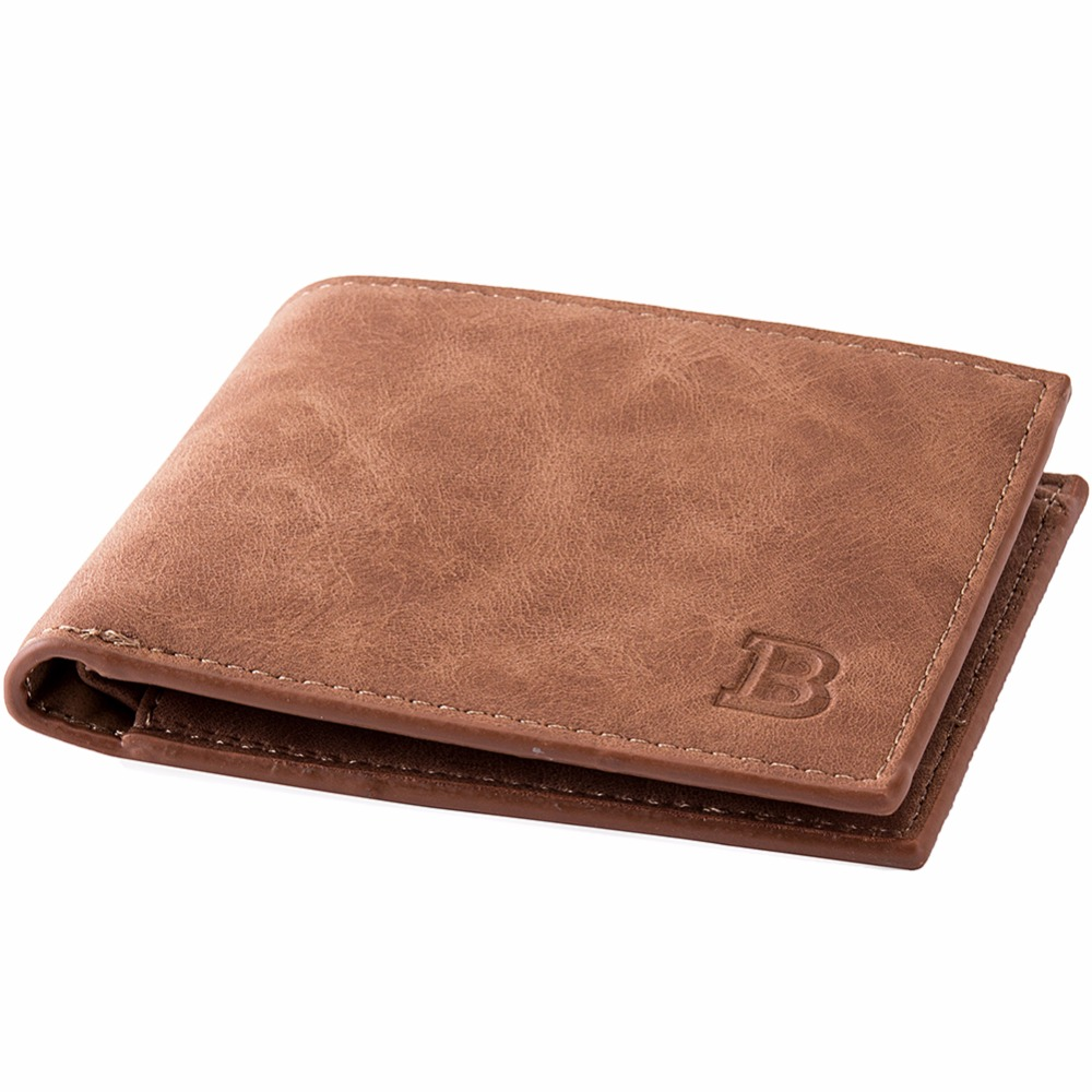 Leather Wallet for Men Men Vintage Wallet Clutch Slim Wallets Thin Money Dollar Card Holder Purses Feature