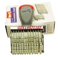 1PCS Rubber Price Unit Design 12 Digits Number Numbering Machine Roller Stamp Seal