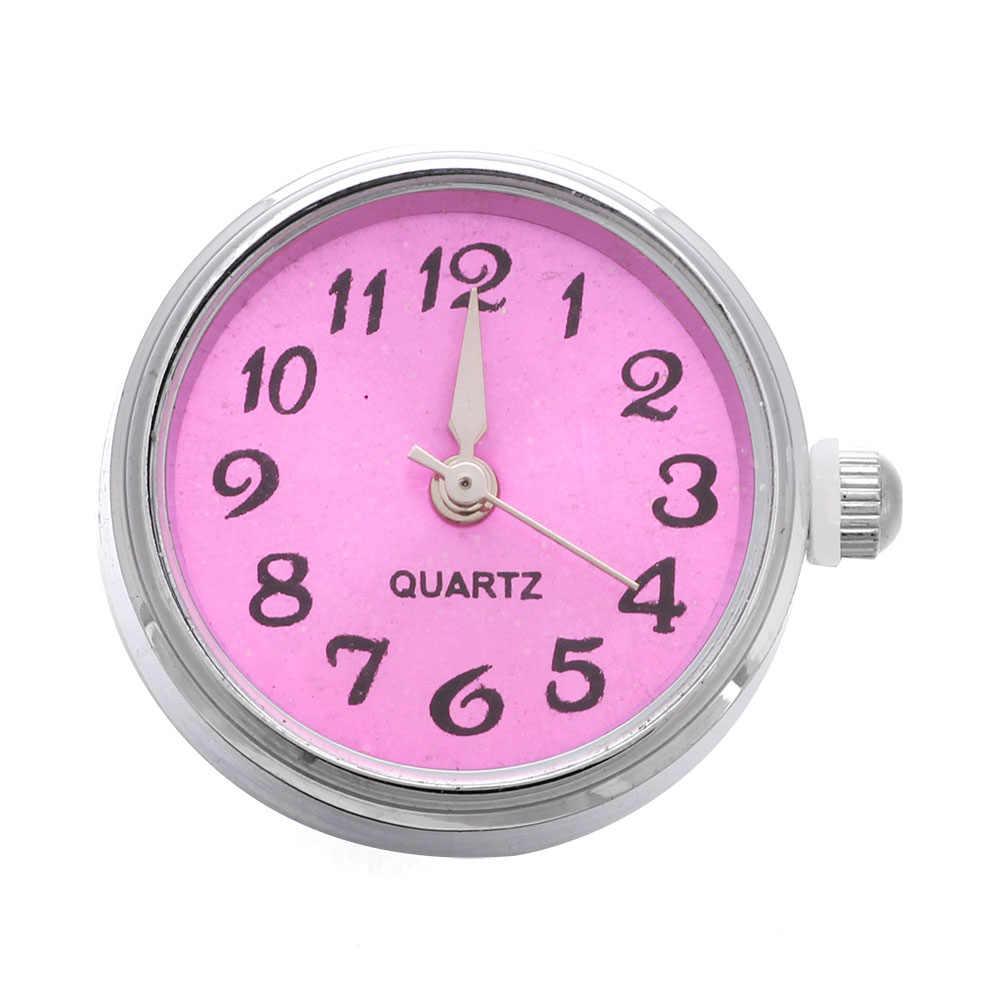 זכוכית שעון הצמד כפתורים עשרה צבעים יכול לנוע fit 18mm/20mm DIY הצמד צמיד תכשיטי כפתורי להחלפה