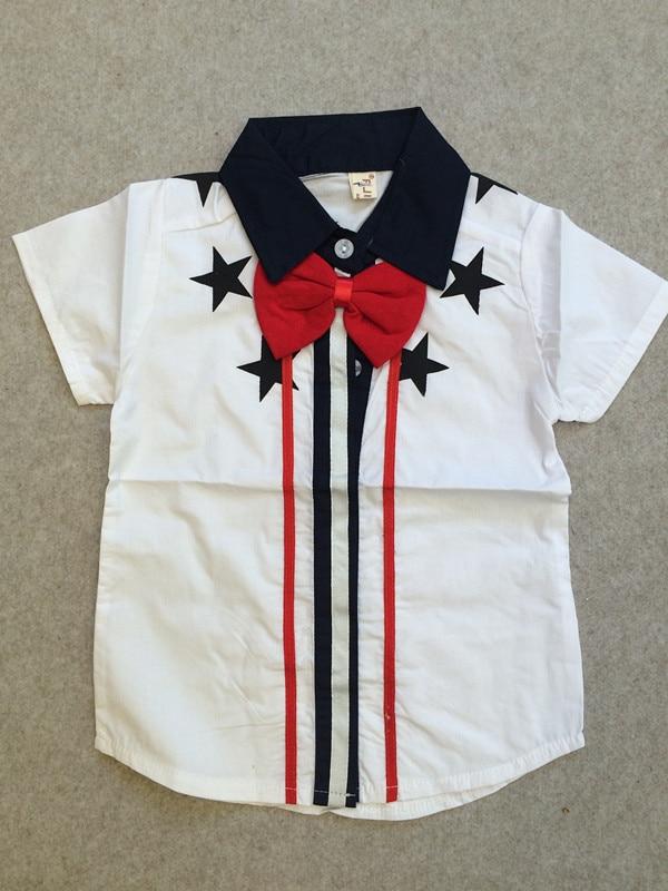Geleerd 2019 Nieuwe Zomer Baby Jongens Wit Blouses & Shirts Kinderen Katoenen Shirt Korte Mouw Kid's Kleding Voor Jongen Zuigeling Kleding Leeftijd 0-3 T