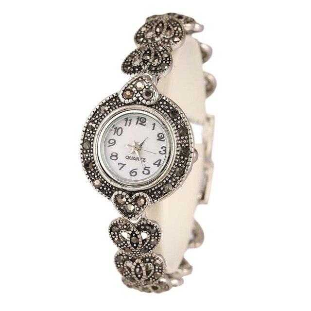 476550068e New 2017 Fashion Designer Promotion Plated Antique Silver + Bangles + 26%  Crystal Bracelet Wristwatch For Women