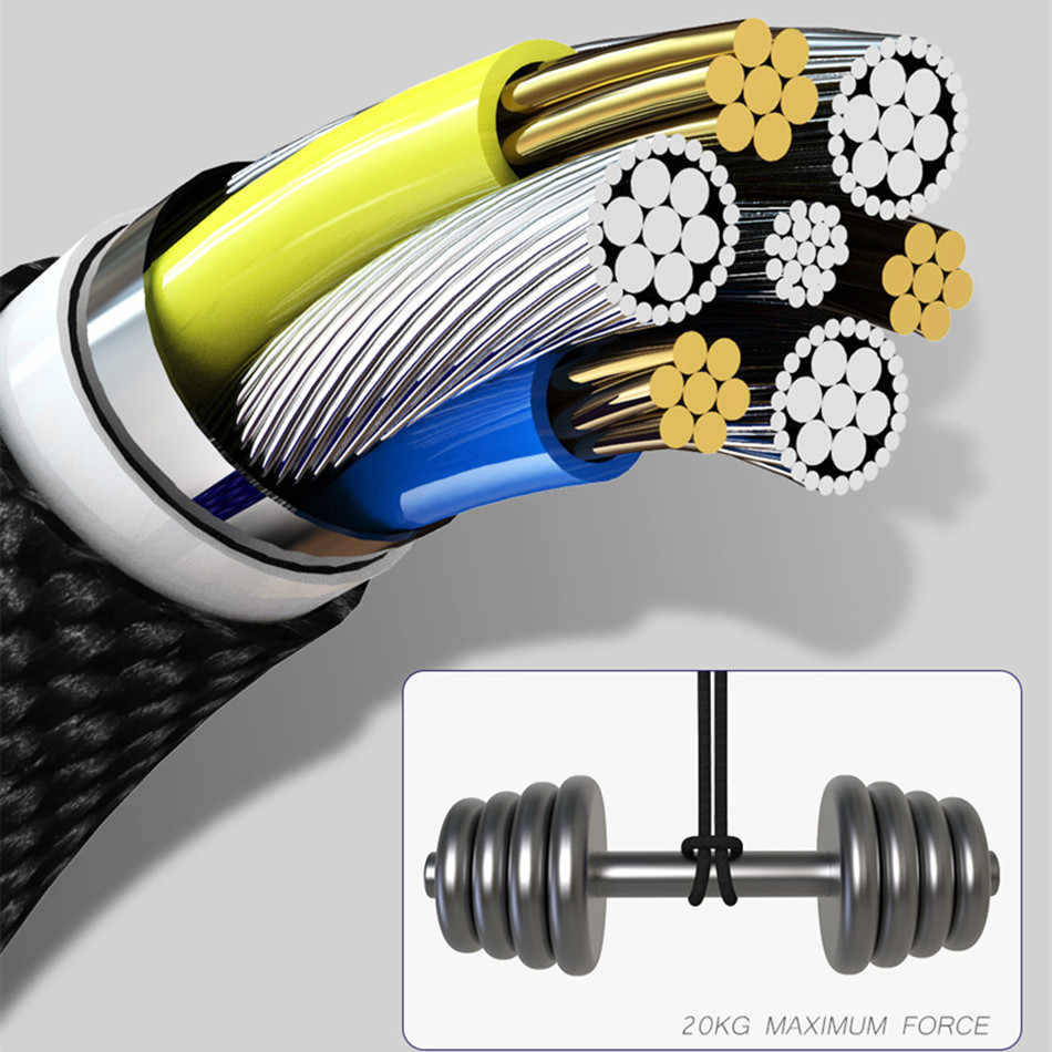1M 3A manyetik şarj kablosu mikro USB kablosu için Xiaomi iphone XR XS Max X mıknatıs şarj USB tipi C kablosu LED şarj kablosu kablosu