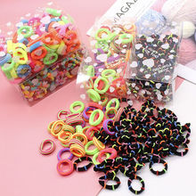 100PCS 3.0CM Children Cute Small Elastic Rubber Bands Tie Rings Ponytail Holder  Kids Hair Band Headband Girls Accessories