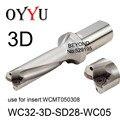WC32-3D-SD28-WC05 indexable insert U drill 3D WC быстрое сверление мелкое отверстие WCMT050308 охлаждающая кольцевая пила оригинальная фабрика