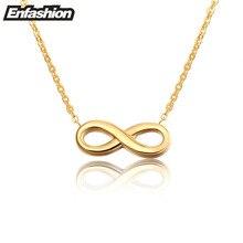 Mode infinity collier femmes pendentif collier plaqué or rose en acier inoxydable collier chaîne collier bijoux en gros