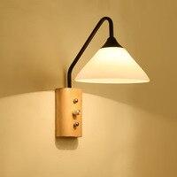 Klassische led Massivholz Wand Lampe mit Schalter Wohnzimmer Schlafzimmer Nacht Wand Leuchte für Leuchte Treppen Asles Balkon lampen