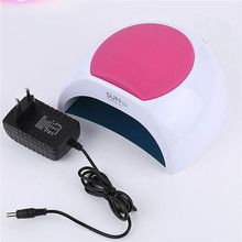 hot deal buy sun2c 48w nail dryer double light led nail lamp for curing light polish fingernail toenail 33leds dryer nail all gel smart timer