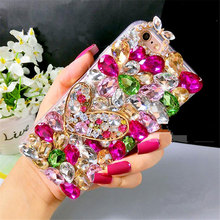 Luxury Bling Crystal Rhinestone Case With Cute Diamond Heart Shining DIY Case Cover For iphone4S 5C 5S 6 6S Plus 7 7Plus Cases