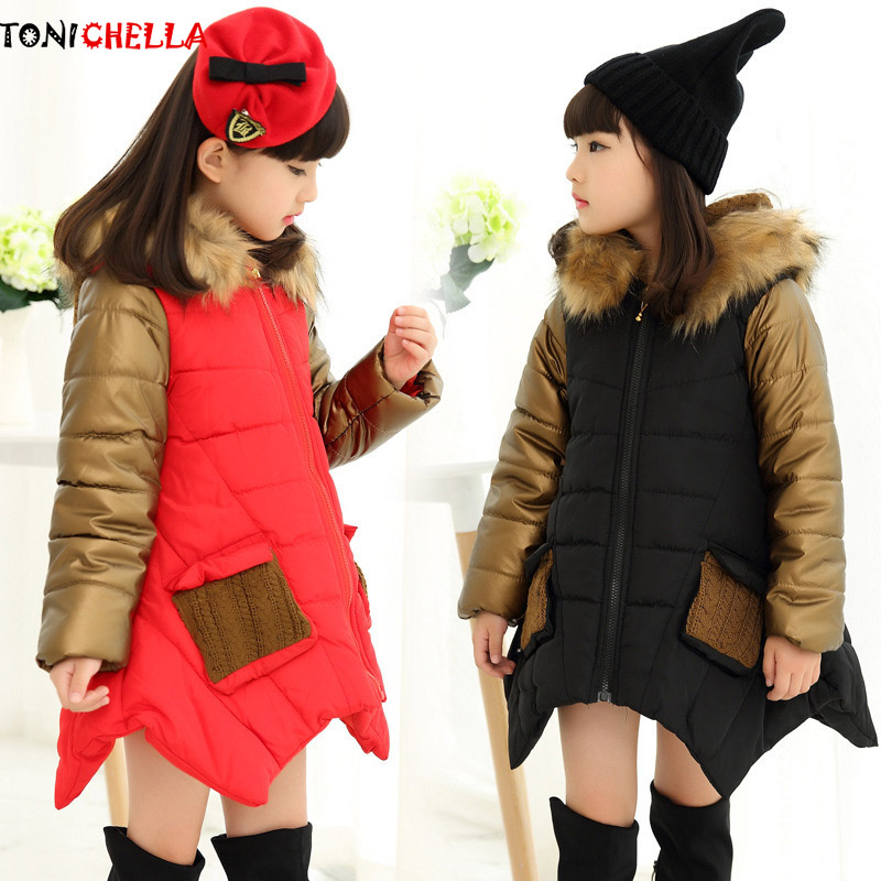 Girls Spring Autumn Winter Coat Cotton Padded Hooded Girls Coat Kids Thick Jacket Outerwear Girl Soft Princess clothing CL2026