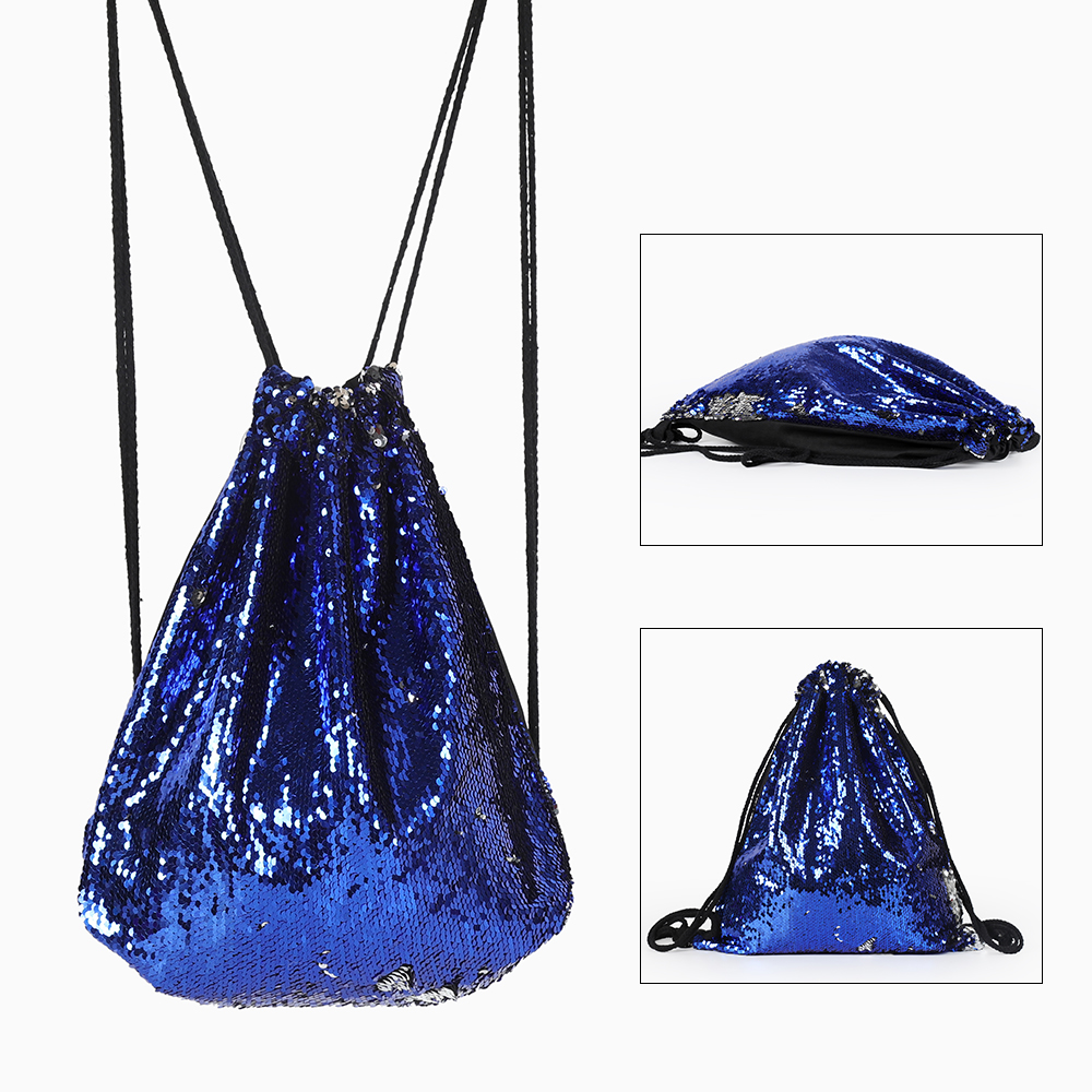Drawstring Gym Sack Bag Outdoor Sports Backpack Gymnastics Hand Bags For Girls Women\'S Sports Fitness Bag Backpacks With Sequins