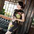 Chinese Cheongsam Qipao Silk Print Slim Vintage Fashion Women Oriental Dresses Tradicional Party Weeding Cloth