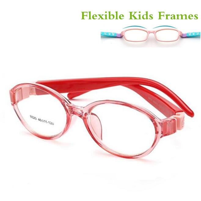 2017 Bendable Round Light Child Glasses frame kids frames eyewear Flexible TR rubber optical lense No Screw safe Light 8820