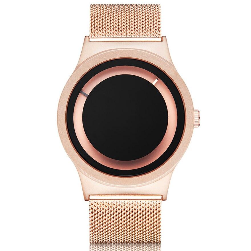 Couple Watch Quartz-Clock Turntable Black Sport Creative Unique Rose-Gold Men Women Casual