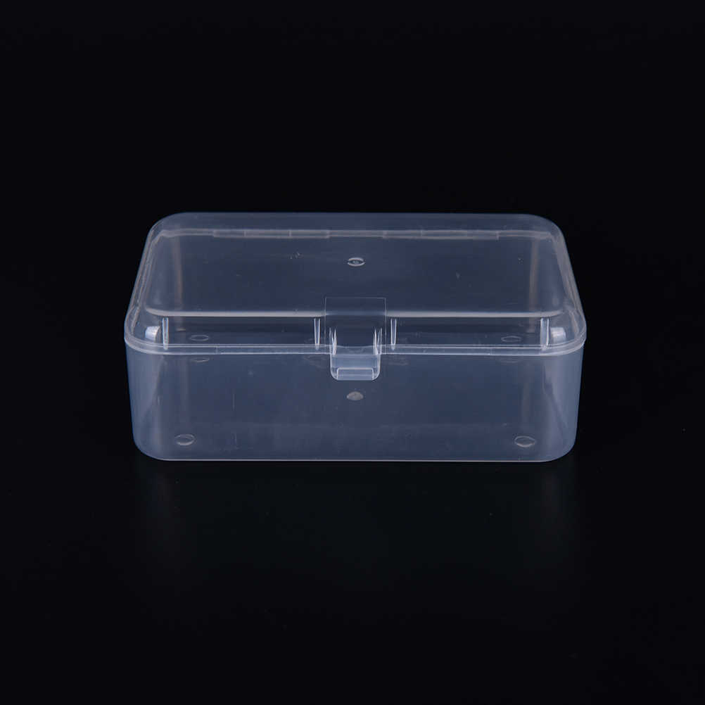 Multipurpose Display Transparent Plastic Storage Box for Cosmetics Jewelry Collection Parts Element Small Case Home Organization