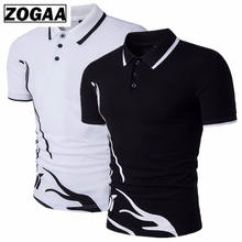 ZOGAA Men Polo shirt short sleeve Casual Cotton Solid Anti-shrink Men Polo Short Sleeve polos para hombre mens polo shirt