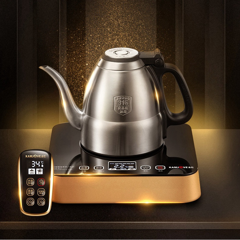 KAMJOVE E7 série intelligente fontaine style thé art cuisinière bouilloire automatique alimentation en eau par télécommande thé cérémonie cuisinière