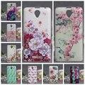 Luxo 3d flor alívio pintura colorida de volta telefone soft case para lenovo a5000 a 5000 voltar casos tpu tampa da pele para lenovo A5000