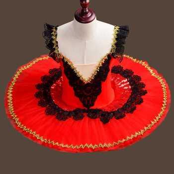 New Red Ballet Pancake Tutu Lace Girls Adults Child Professional Kids Tutu Classical Dance Girl Tutus Ballerina Dress