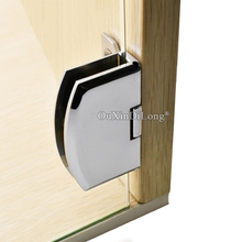 NEW 10PCS/LOT Glass Cabinet Door Hinges Wine / Display for Cupboard Clamps Clips Chrome No Drilling