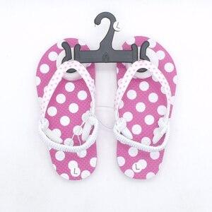 Image 5 - 2020 yaz çocuk Flip flop pembe nokta Antiskid sandalet yumuşak rahat erkek kız terlik plaj çocuk ayakkabı