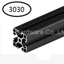 Noir En Aluminium Profil Aluminium Extrusion Profil 3030 30*30 pour Haribo Édition prusa I3 MK2 3D imprimante
