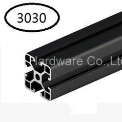 Schwarz Aluminiumprofil Aluminium-strangpressprofil 3030 30*30 für Haribo Edition prusa I3 MK2 3D drucker