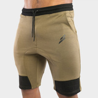 Elastic Waist Gyms Shorts Pockets Bodybuilding Clothing Men Golds Athlete Fitness Bermuda Weight Lifting Workout Cotton