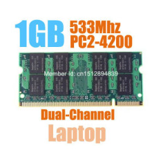 MLLSE New Sealed SODIMM DDR2 533Mhz 1GB PC2-4300 memory for Laptop RAM,good quality!compatible with all motherboard!