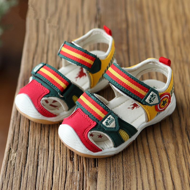 Boys Sandals Light 2016 Summer Brand Captain Soft Led Girls Shoes Kids Fashion Beach Size21-26 - Cute World store