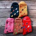 Mulheres meias meias meias de algodão impressão dos desenhos animados nas meias tubo meias engraçadas
