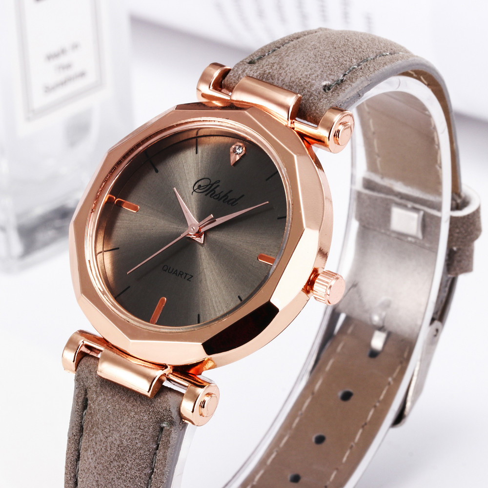 Fashion Women Leather Casual Watch Luxury Analog Quartz Crystal Wristwatchwomen Watches Gifts Wrist Party Decoration Gif For Fem
