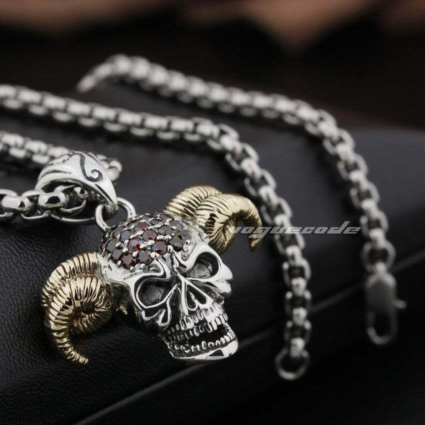 925 sterling silver devil goat skull pendant red cz stone head 925 sterling silver devil goat skull pendant red cz stone head brass horn biker punk style 8n021 steel necklace 24inch in pendants from jewelry mozeypictures Choice Image