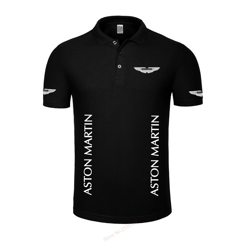 High Quality New Summer Casual Aston Martin Polo Shirts