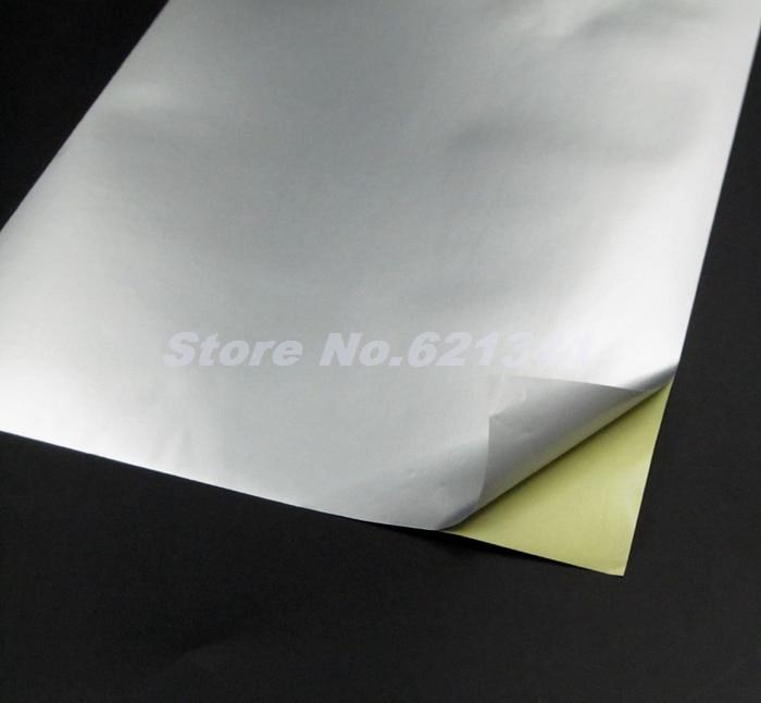 50sheets A4 Self Adhesive Silver Aluminum Foil Printing
