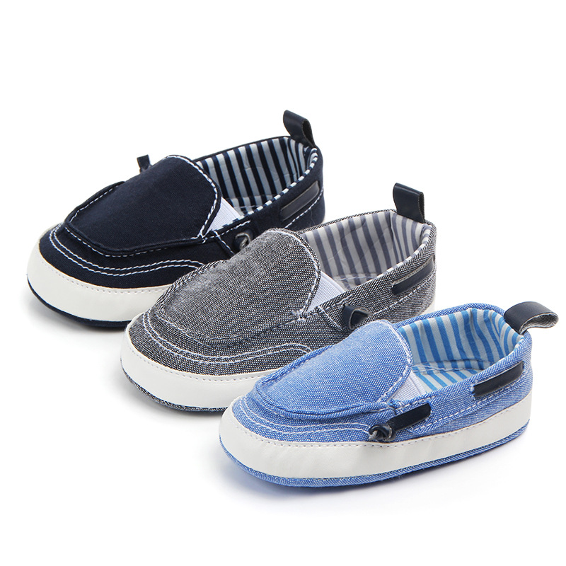 Toddler Boy Canvas Shoe Baby Boy Loafer Sneaker Infant  Slip On  Prewalker Shoe For 0- 18 Month Babies