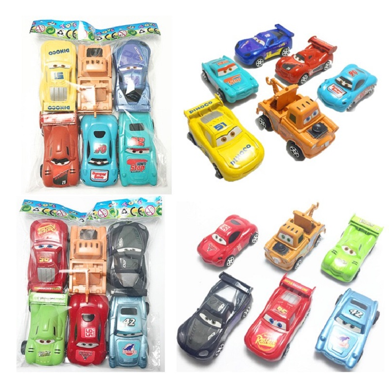 Disney Pixar Car 3 McQueen Jackson Storm Mater 1:55 Die Casting Metal Plastic 6pcs/ Set Car Model Boy Toy Children's Gift
