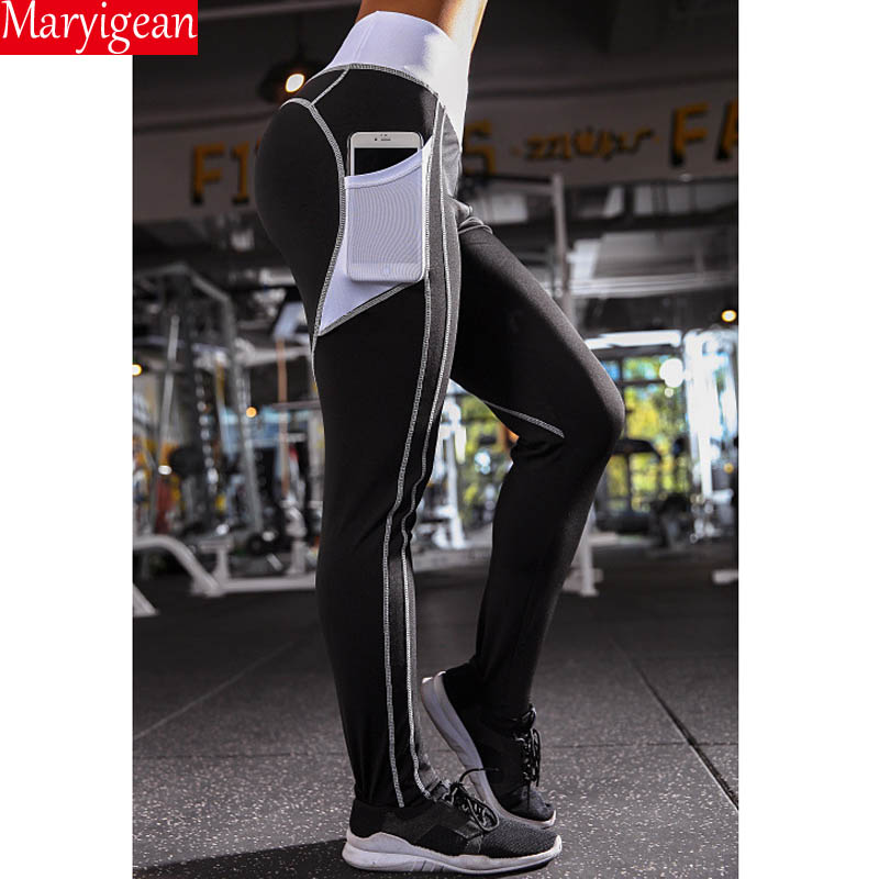 Maryigean Summer Women Fashion Gothic Push Up Sports Pants Love Heart Fitness Leggings High Waist Casual Plus Size Yoga Leggings