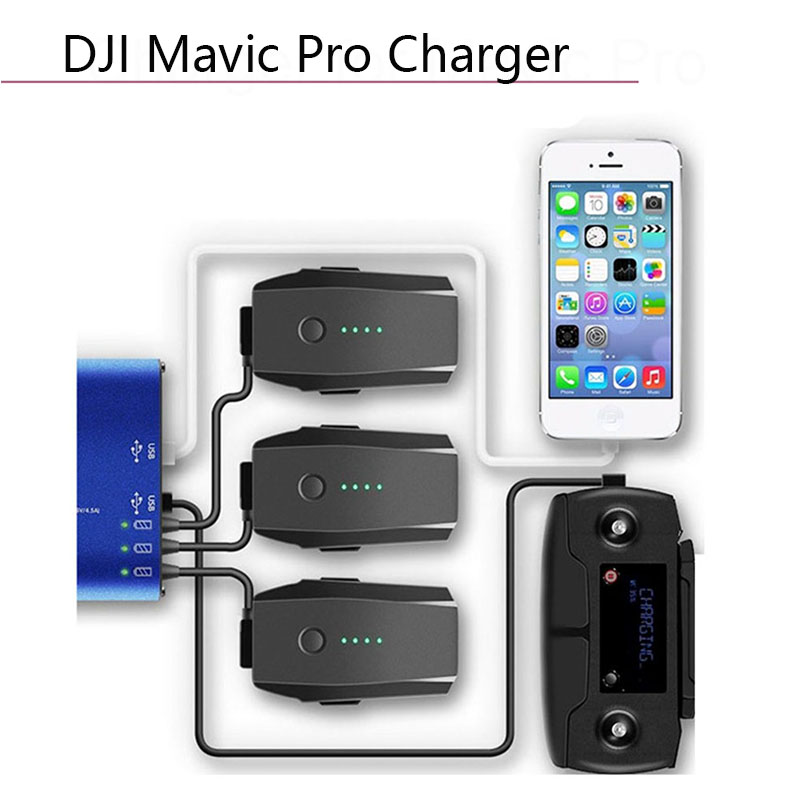 5 In1 Multi Smart Battery Charging Hub Intelligent Charger For Mavic Pro Platinum 5V 2A With US Plug Drone Camera Accessories