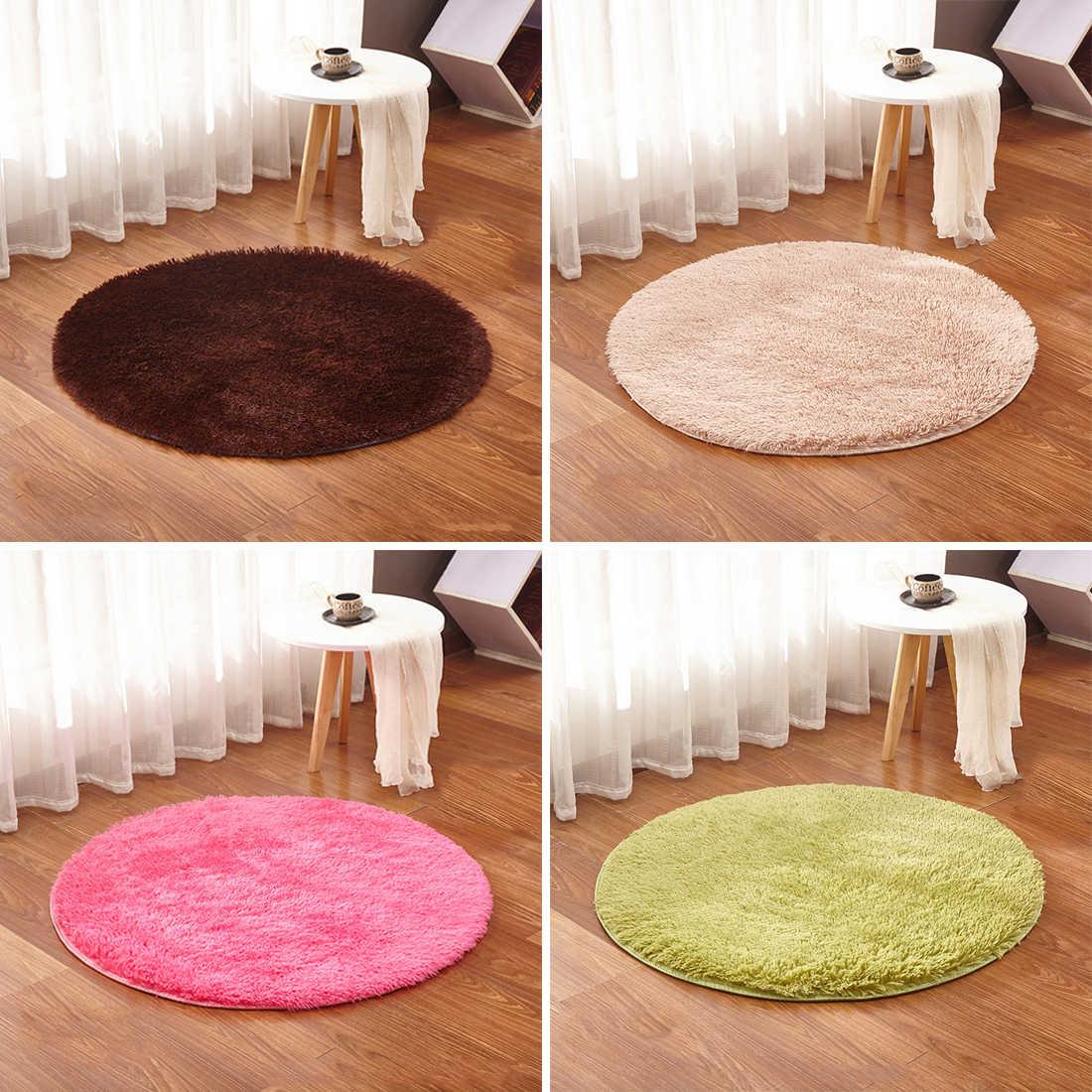 1pc Shaggy Area Rug Living Room Fluffy Round Rug Carpet For Kilim Faux Fur Carpet Kids Room Long Plush Rugs For Bedroom