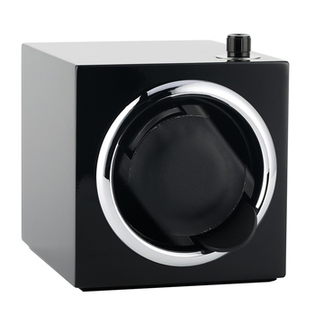 Luxurious Mini Mute Watch Winder Five Modes Automatic Wrist Watches Winders Box Fashion Black Paint Watch Display Case