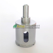 цена на Dia35mm  Vacuum brazed diamond core bits with round shank, dry or wet drilling bits  free-shipping