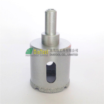 цена на DIATOOL Dia35mm Vacuum Brazed Diamond Core Bits With Round Shank, Dry Or Wet Drilling Bits Free-shipping