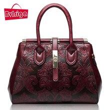 BVLRIGA marcas bolso de cuero Genuino bolso retro bolsas mensajero de las mujeres de lujo bolsos de las mujeres bolsos de diseñador de las señoras de cuero real