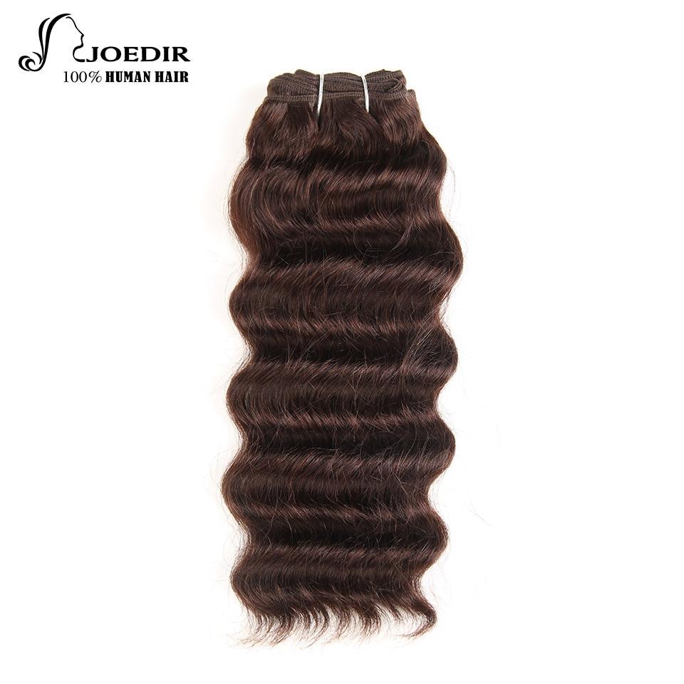 Joedir Hair Peruvian Deep Wave Remy hair 1piece black human hair Weaving Extension Natural Color No Shedding no Tangle Free Ship