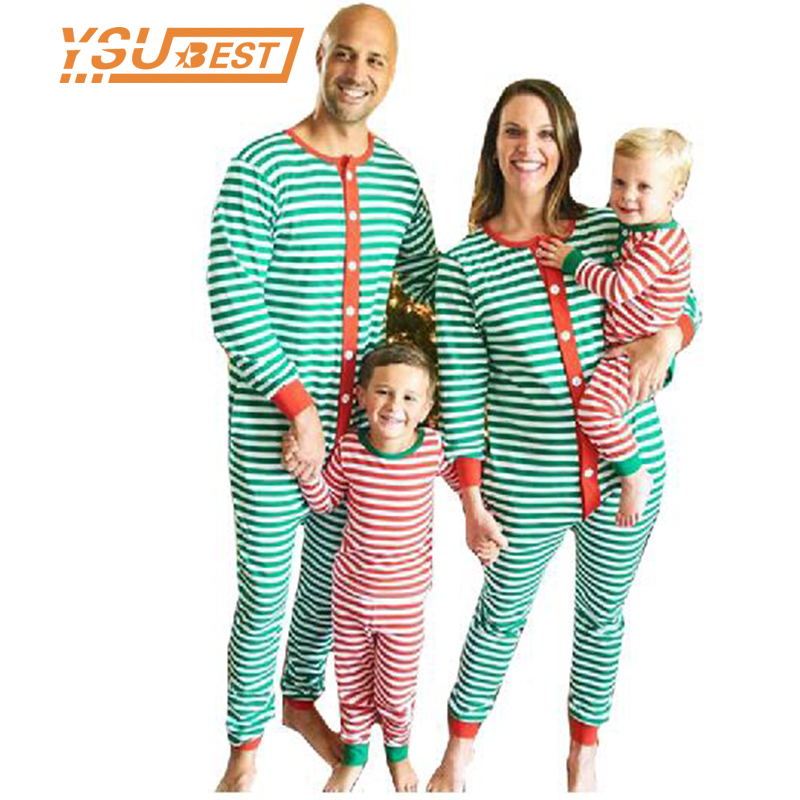 Family Christmas Pajamas Set Striped Pyjamas Set Family Look Matching Family Christmas Pajamas Coverall Family Matching Clothes