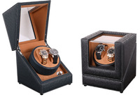 Gift Design Automatic Watch Winder Box, 4 Model Ostrich Pattern Leather 2 Power 4 Plugs Mabuchi Motor Watch Winders Quality Sure