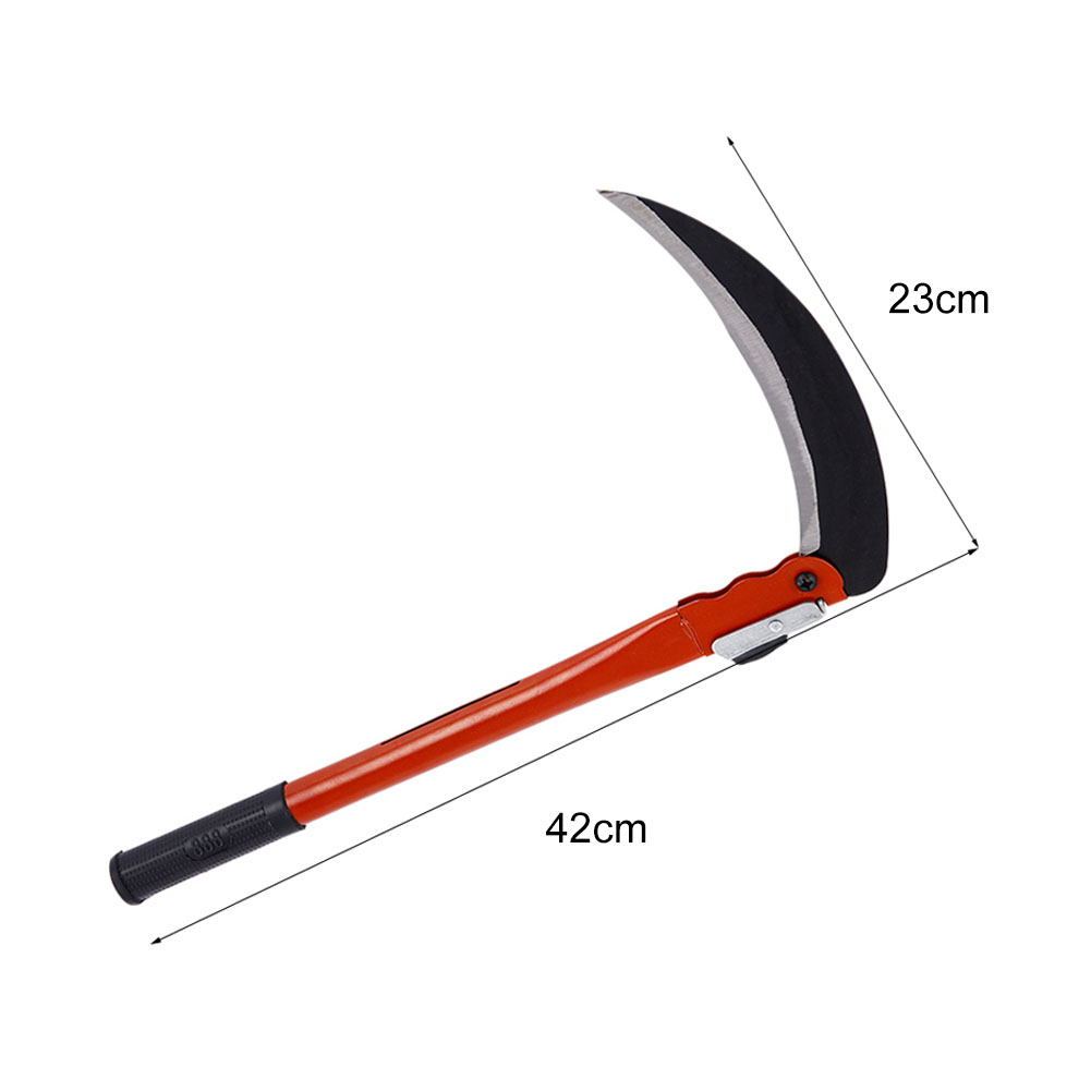 Steel Grass Sickle Small Scythe Folding Handle Gardening Farming 230mm Tool ASD88 farm hand forged spring steel sickle king chai sickle weeding knife grinding the blade free firewood