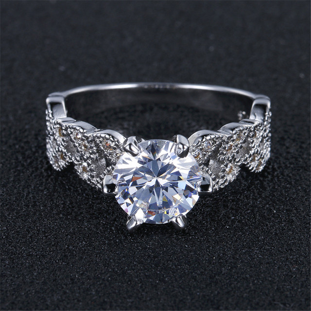 Zircon Engagement Rings for Women