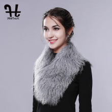 FURTALK Women Winter Collar Super Womens Wholesale Real Mongolian Lamb Fur Collar Scarf